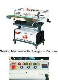 Band Sealer With Nitrogen Flushing and Vacuum Packing Machine