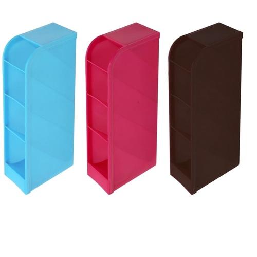4 Compartment Plastic Pen Stand
