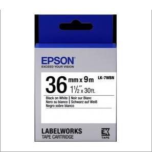 LK-7WBN -- 36MM B/W Label Tape