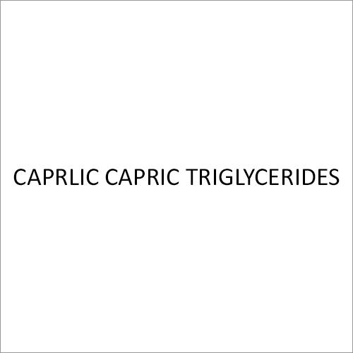 Caprlic Capric Triglycerides