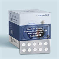 Amoxicillin 1000 MG + Potassium Clavulanate 625 MG Film Coated Tablets