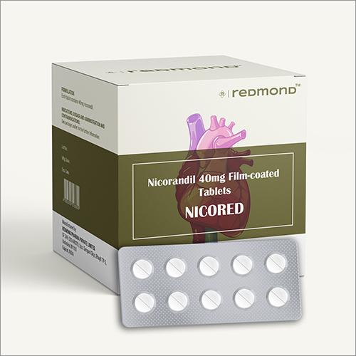40 MG Nicorandil Film Coated Tablets