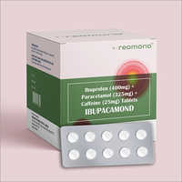 Ibuprofen 400mg + Paracetamol 325mg + Caffeine 25mg Film-Coated Tablet