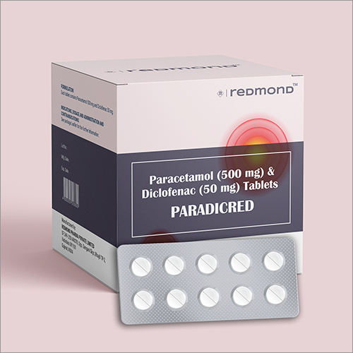 Paracetamol 500mg + Diclofenac 50mg Film-coated Tablet