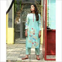 Ladies Muslin Designer Readymade Salwar Kameez Dupatta Set