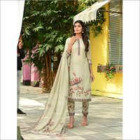 Ladies Light Dull Green Designer Readymade Salwar Kameez Dupatta Set