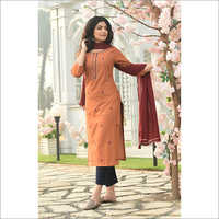 Ladies Cotton Readymade Salwar Kameez Dupatta Set