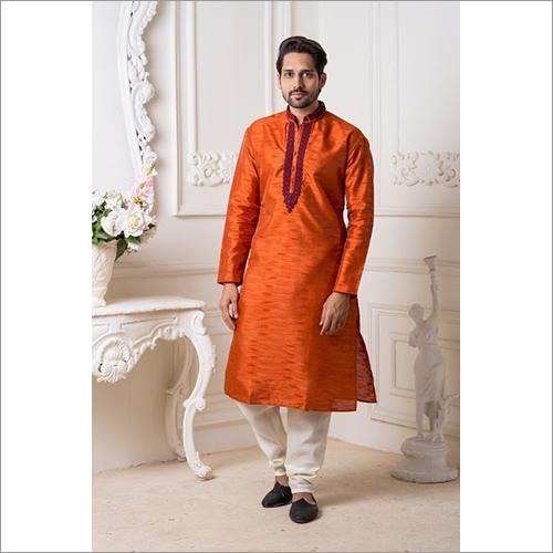 Mens Mysore Silk Kurta Pyjama
