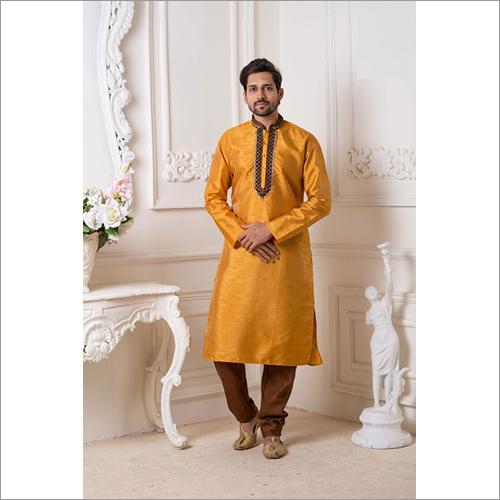 Mens Mysore And Chenna Silk Kurta Pyjama