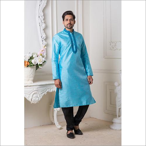 Mens Designer Silk Kurta Pyjama