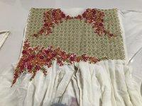 Attractive Georgette Embroidered Semi Stitched Ethnic Gown (69-Cream)
