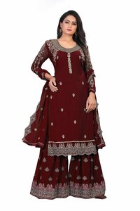 Attractive Georgette Embroidered Semi Stitched Ethnic Gown (3106 Series)