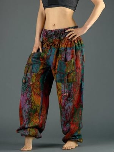 Warm Harem Pants Loose Fleece Baggy Aladdin Pants