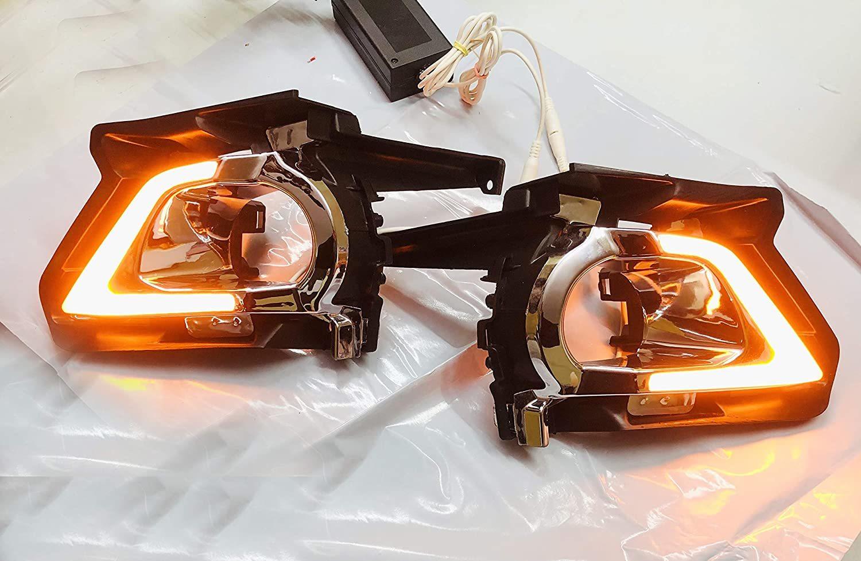 Autofasters Car LED Day Running Light For Toyota Innova Crysta (2016)