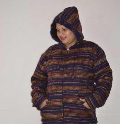 Sweater Jacket Hood Wool