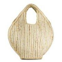 Jute & Fabric Tote Bag