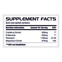 Cranberry Extracts + D-Mannose + Potassium Magnesium Citrate Sachet