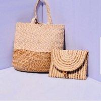 Plain Jute Beach Tote Bag