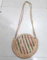 Jute Beach Tote Bag With Strap