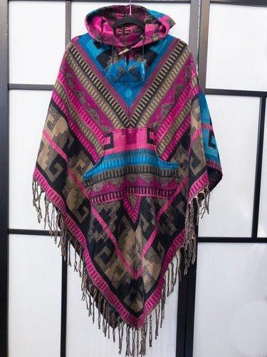 Woolen Poncho Tassels Sweater