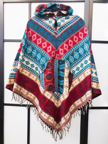 Multi-color Wool Poncho