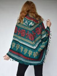 Woolen Poncho Sweater With High Quality