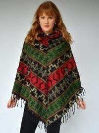 Girls Winter Wear Woolen Poncho