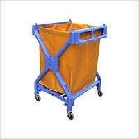 Portable X Shape Plastic Laundry Cart
