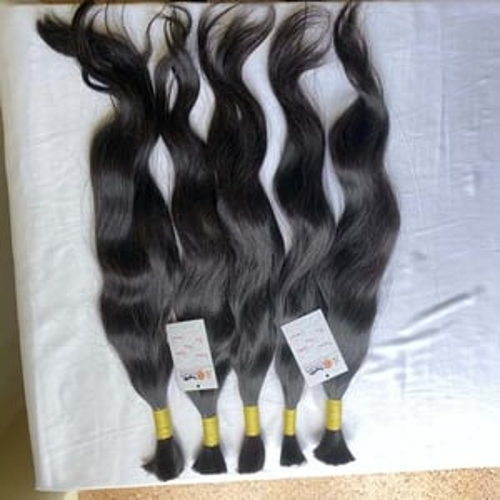 Natural Indian Virgin Raw Single Drawn Bulk Human Hair