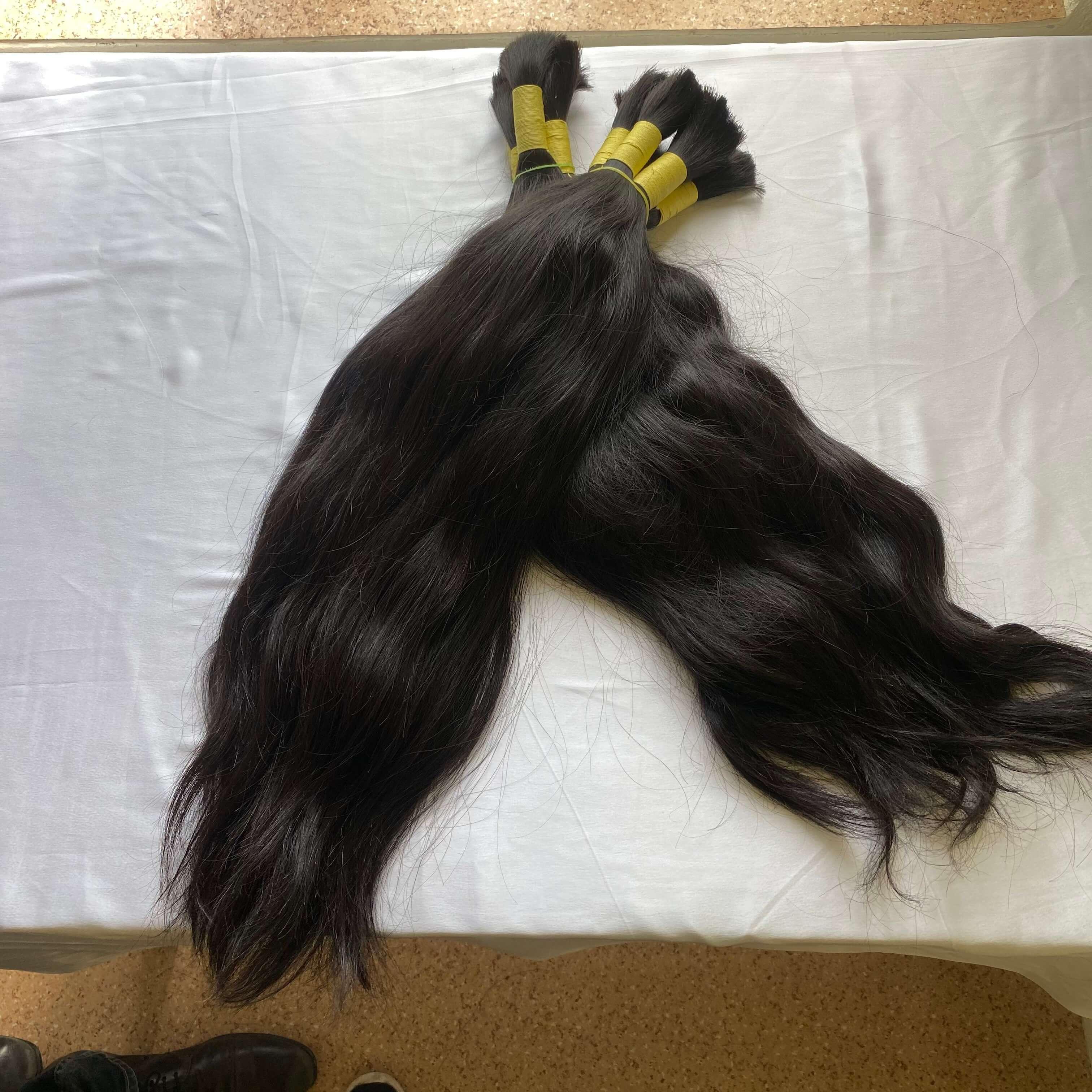 Natural Indian Raw Mink Unprocessed Virginremy Bulk Human Hair Extensions