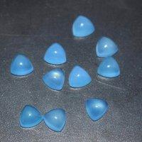 9mm Blue Chalcedony Trillion Cabochon Loose Gemstones
