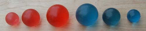 IMI-2846 Gel Ball's For Finger & Grip Exercises (Set Of 6 Balls, 3 Sizes):