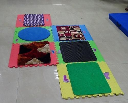 IMI-1346 Tactile Texture Sensory Floor Mats (Set Of 6 Blocks):
