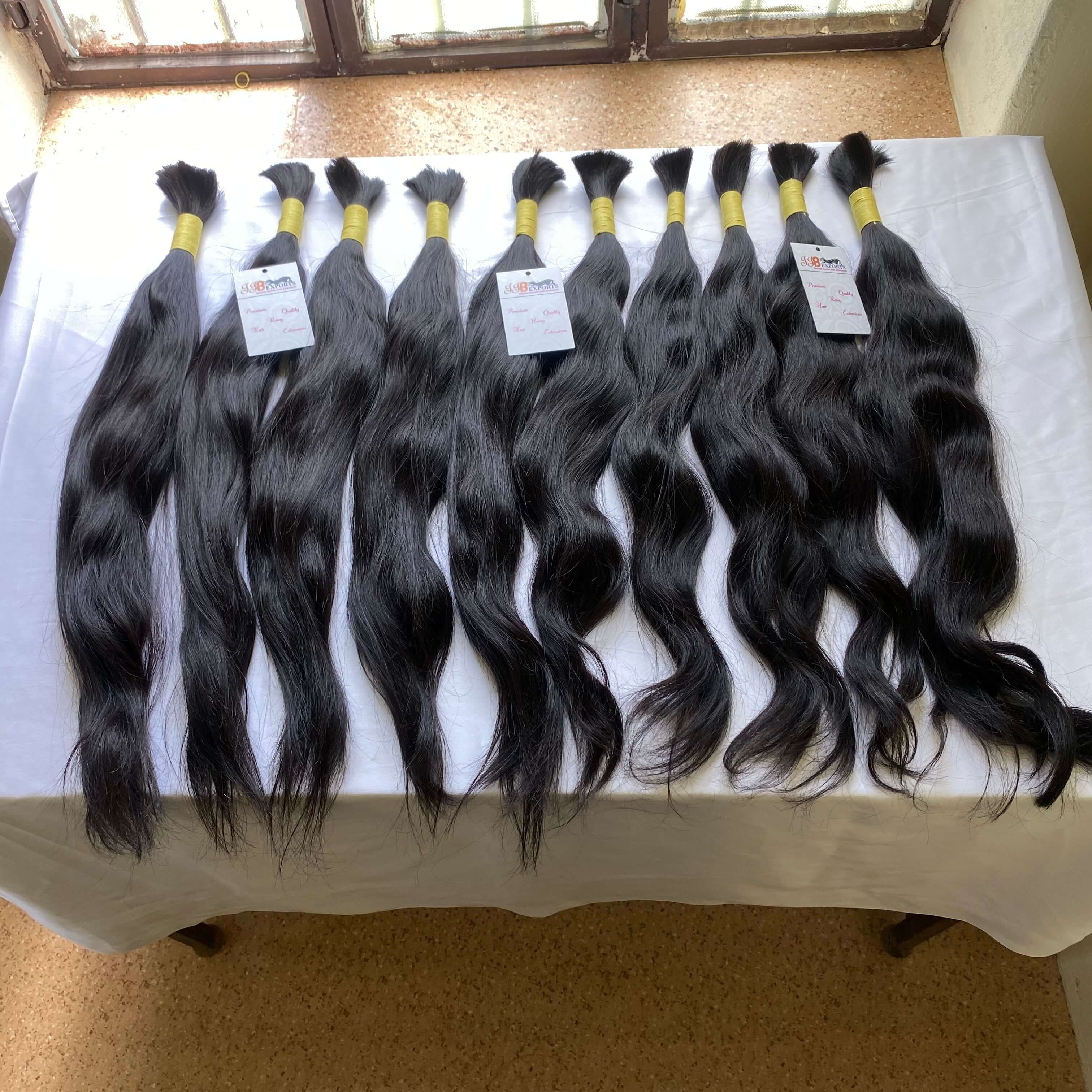 Natural Raw Mink Unprocessed Remy Bulk Virgin Human Hair