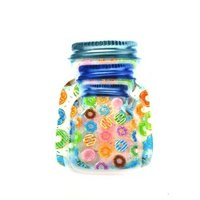 BOTTLE ZIPPER PRINTED POUCH AIRTIGHT PACK OF 3