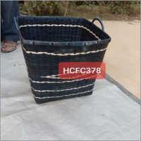 Black Big Bamboo Basket 16X17