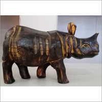 Wooden Rhino (10 inches)