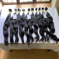 High Quality 100% Natural Raw Virgin Wavy/straight Human Bulk Hair Extensions