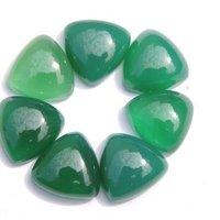 6mm Green Chalcedony Trillion Cabochon Loose Gemstones