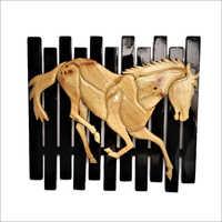Running Horse Wooden Wall Hanging
