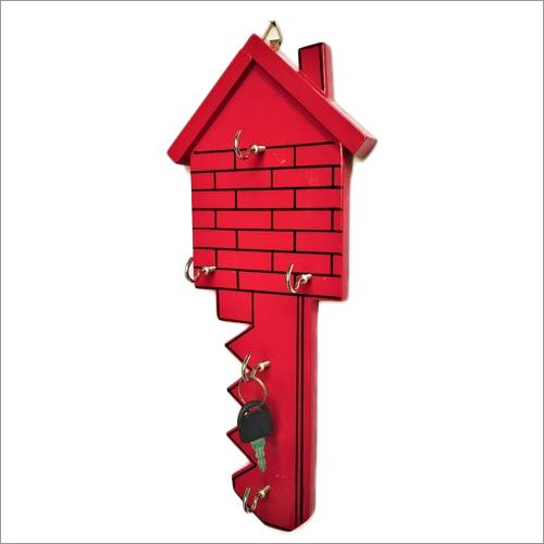 Wooden House Shape Key Holder