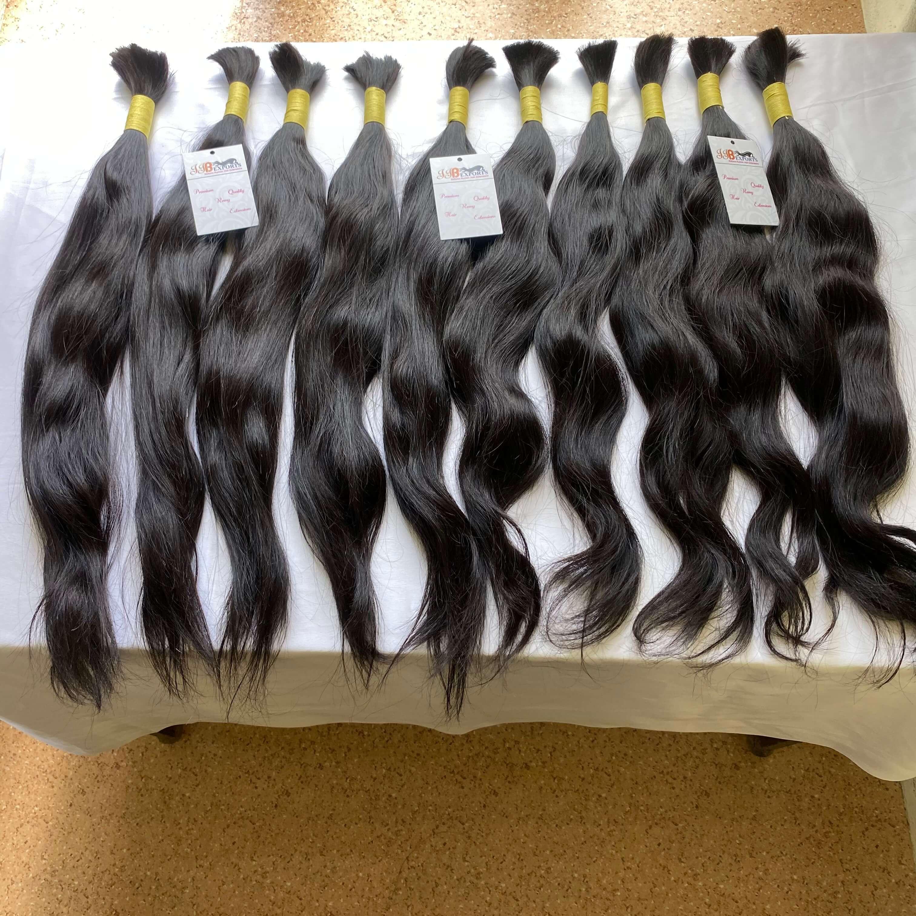 100% Raw Mink Unprocessed Indian Virgin Remy Bulk Human Hair