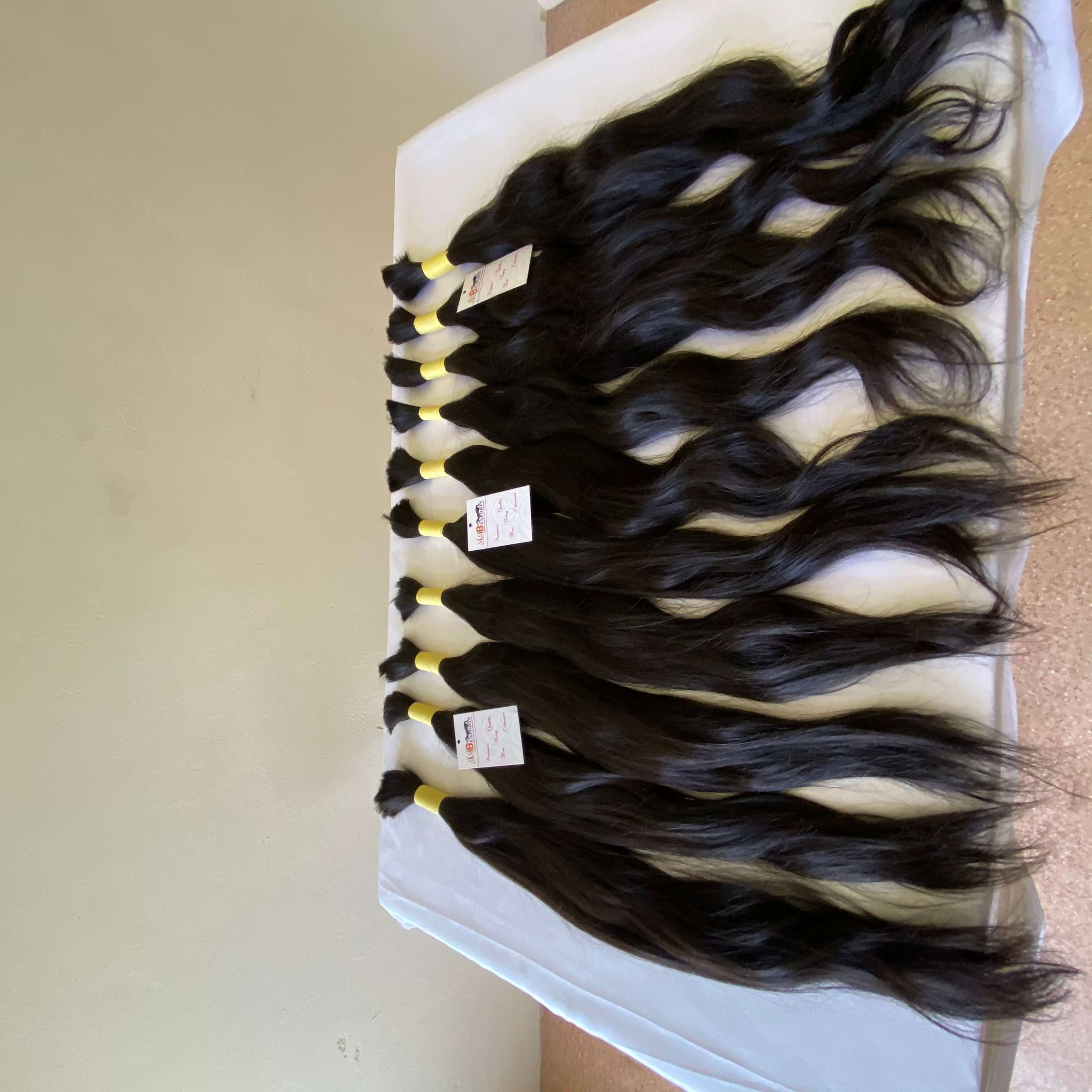 Soft & Silky 100% Raw Unprocessed Indian Virgin Bulk Remy Human Hair Extensions