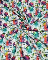 Digital Print Galaxy Cotton Silk Fabric