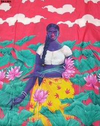 Digital Prints Maslin Silk Fabric