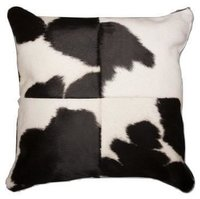 Hair on Leather Laser Print Cushion Cover