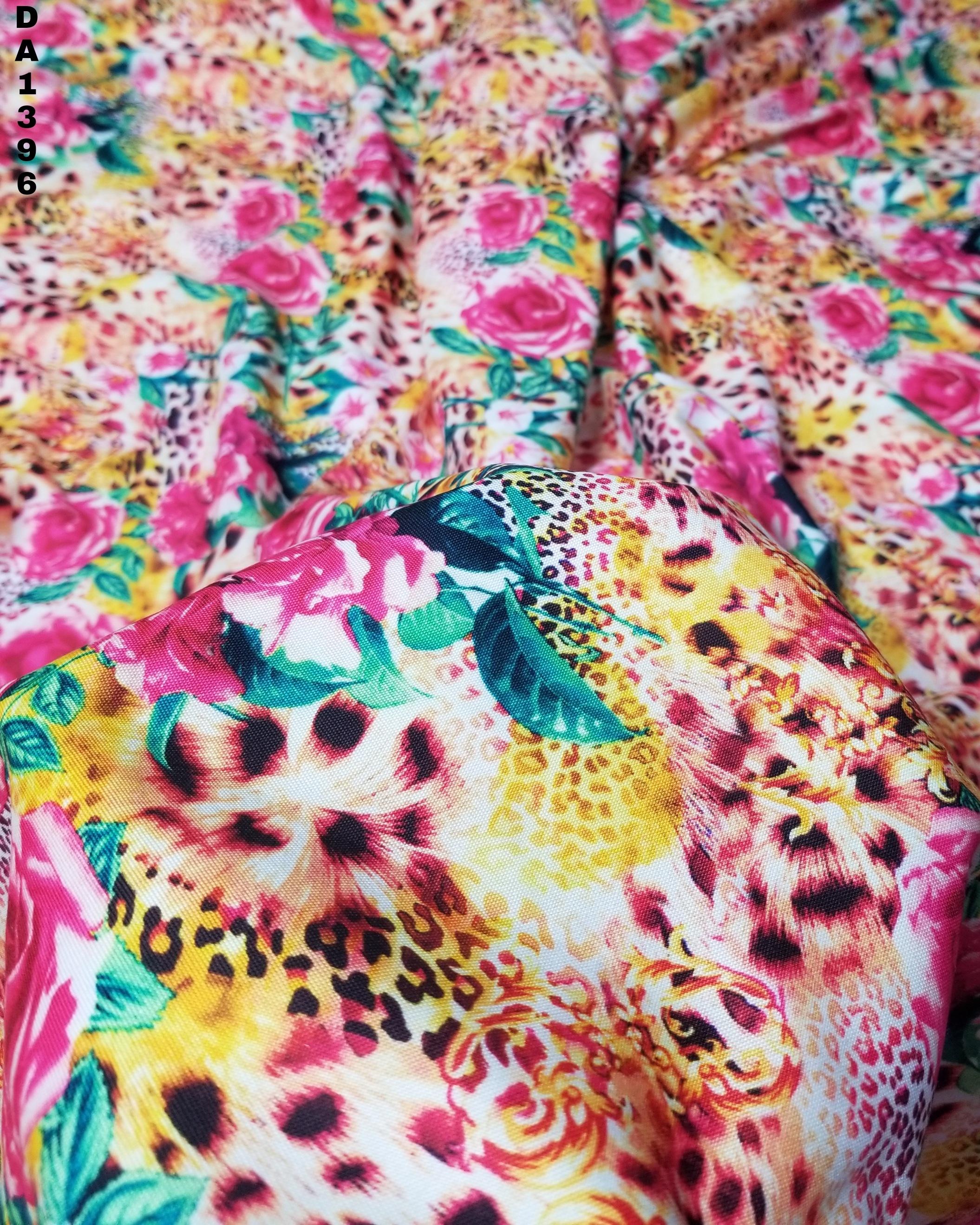 Rayon Silk Digital Print Fabric