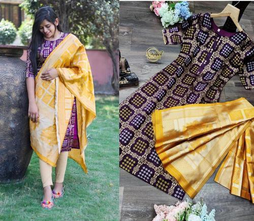 Banarasi dupatta with Top