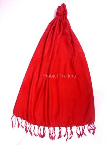 Plain Red Color With Jhalar Stole