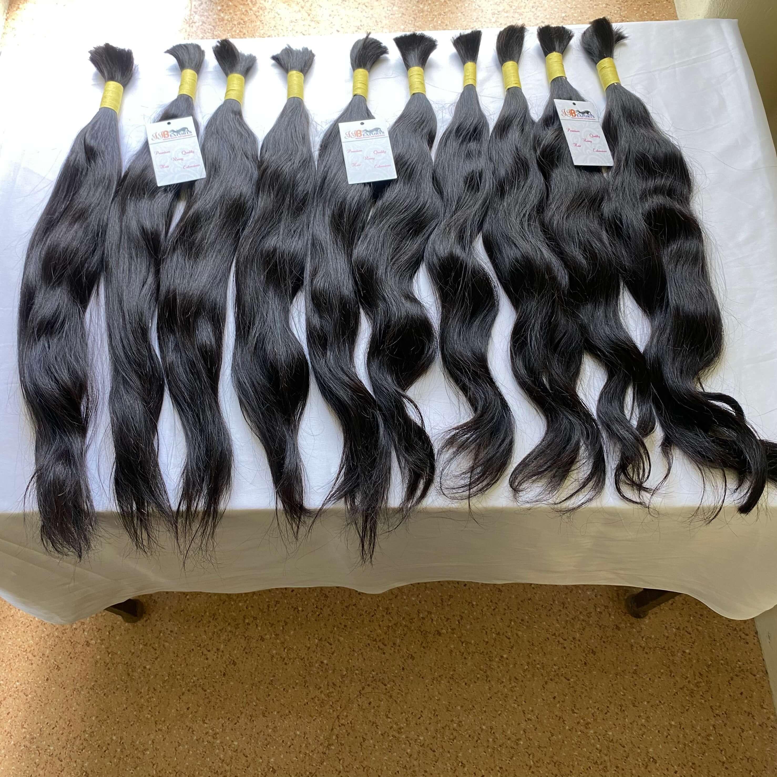 Natural Wave Brazilian Raw Unprocessed Indian Bulk Hair